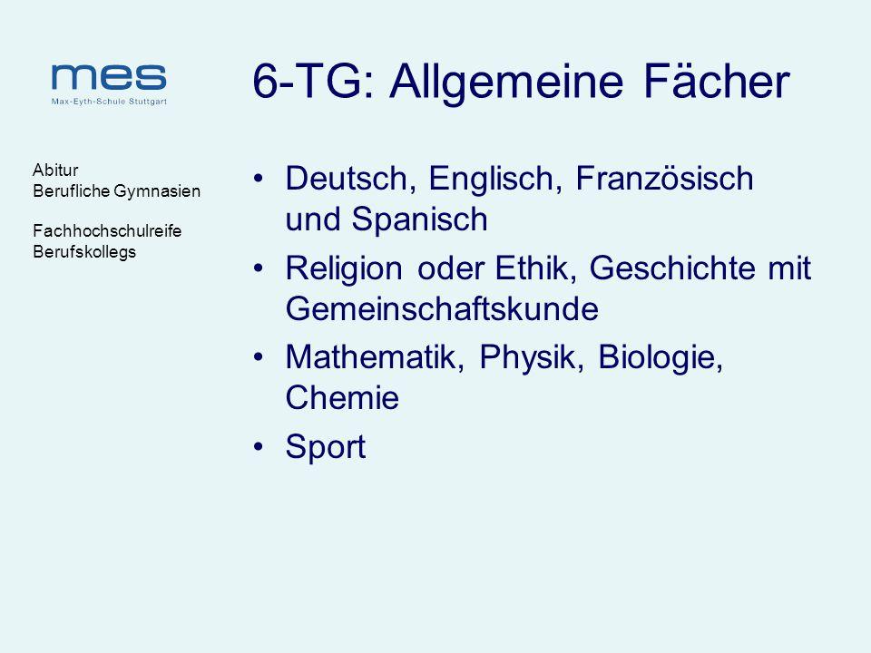 6-TG: Allgemeine Fächer