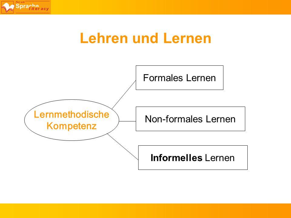Lehren und Lernen Formales Lernen Lernmethodische Kompetenz