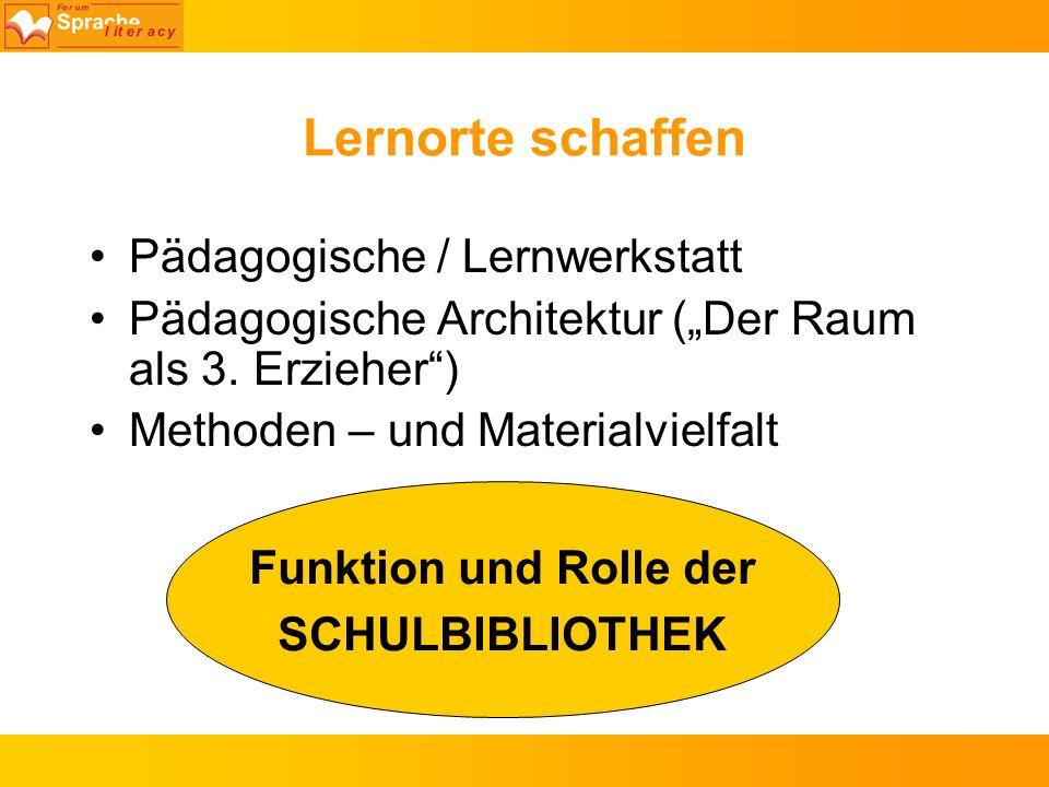 Lernorte schaffen Pädagogische / Lernwerkstatt