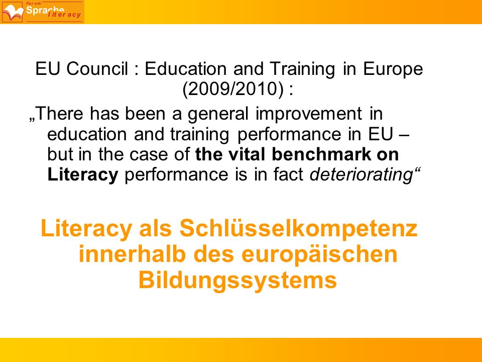 EU Council : Education and Training in Europe (2009/2010) :