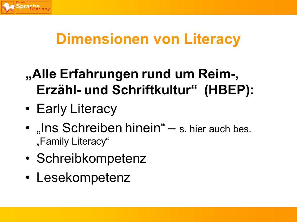 Dimensionen von Literacy