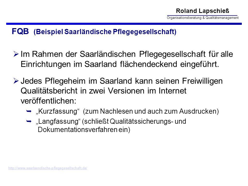 FQB (Beispiel Saarländische Pflegegesellschaft)