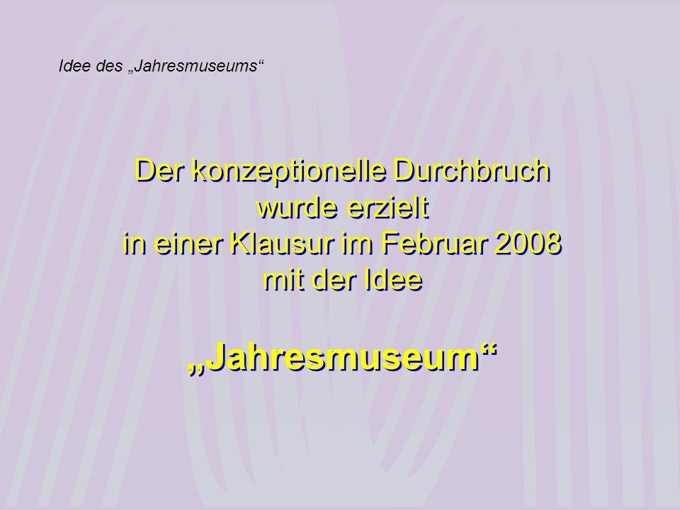 "Idee des ""Jahresmuseums"