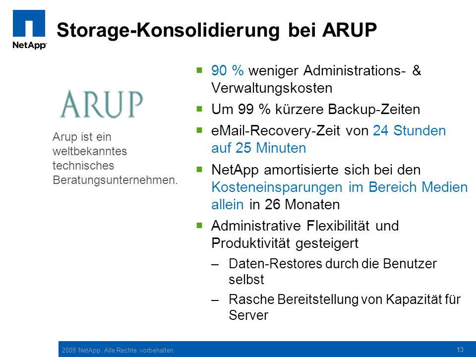 Storage-Konsolidierung bei ARUP