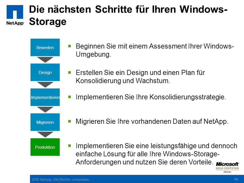 Die nächsten Schritte für Ihren Windows-Storage