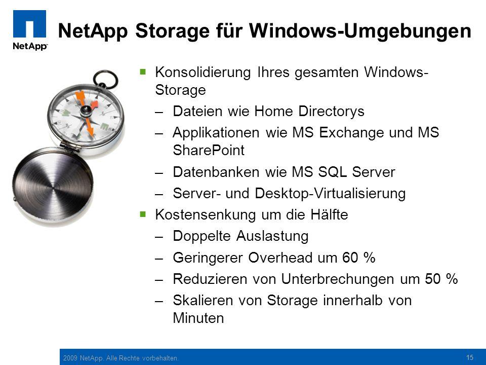 NetApp Storage für Windows-Umgebungen