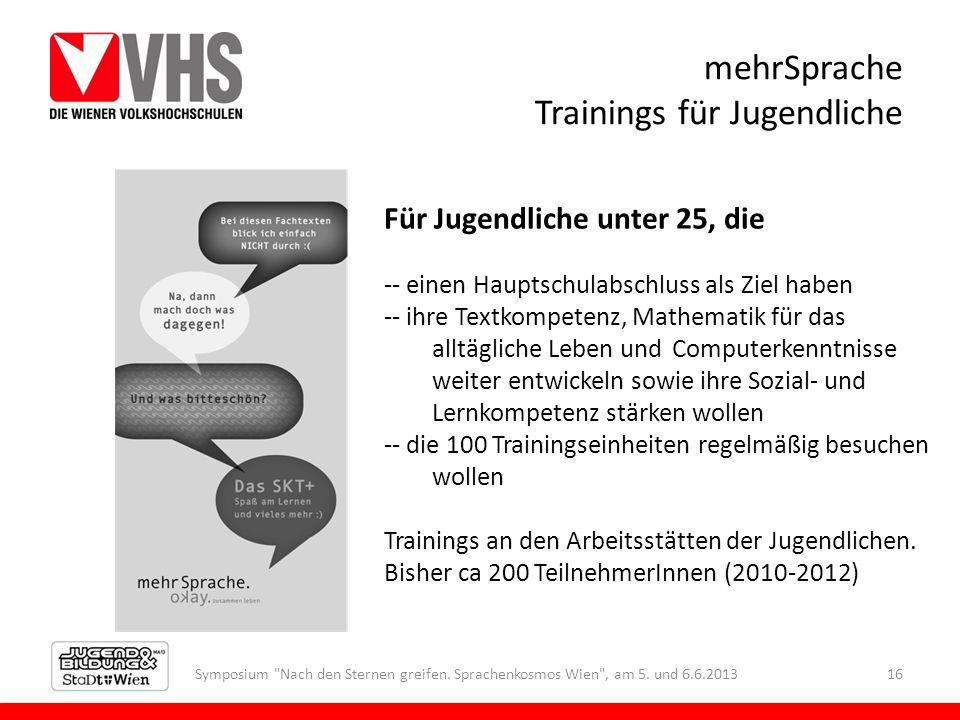 mehrSprache Trainings für Jugendliche