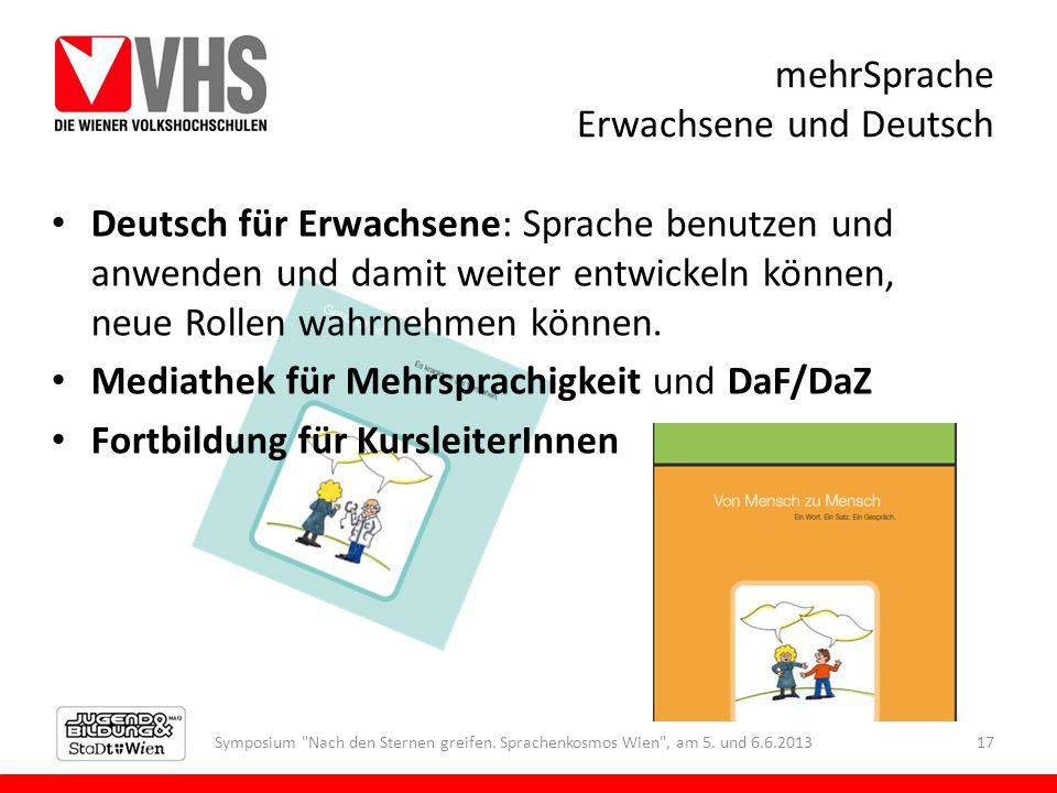 mehrSprache Erwachsene und Deutsch