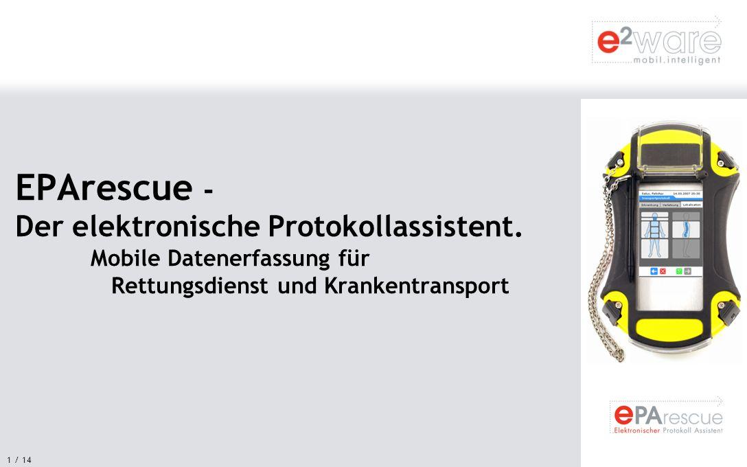 EPArescue - Der elektronische Protokollassistent