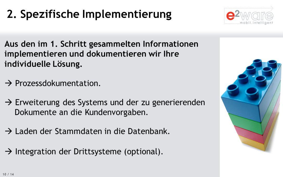 2. Spezifische Implementierung