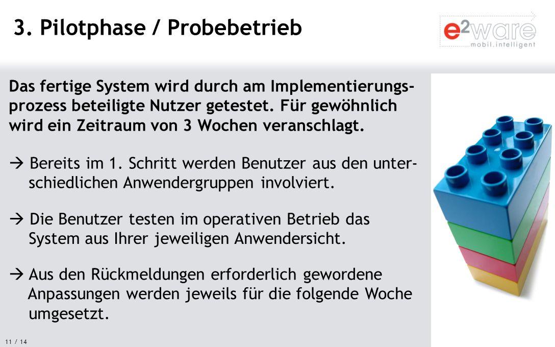 3. Pilotphase / Probebetrieb