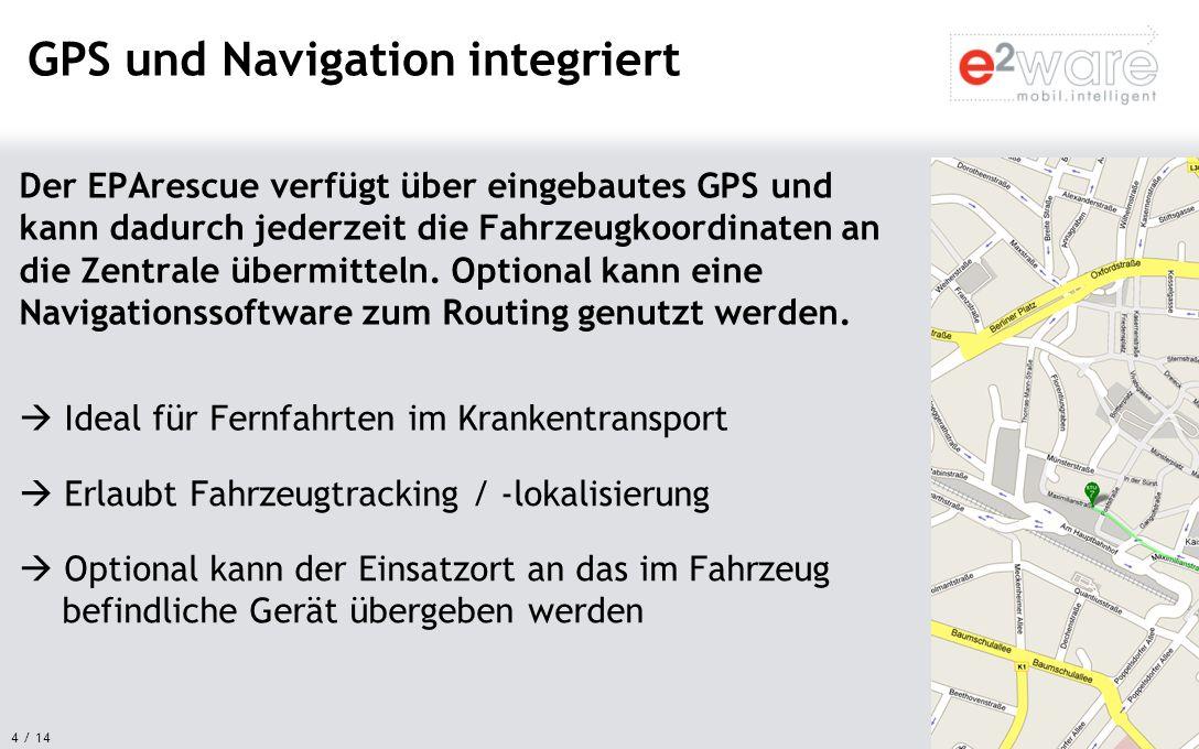 GPS und Navigation integriert