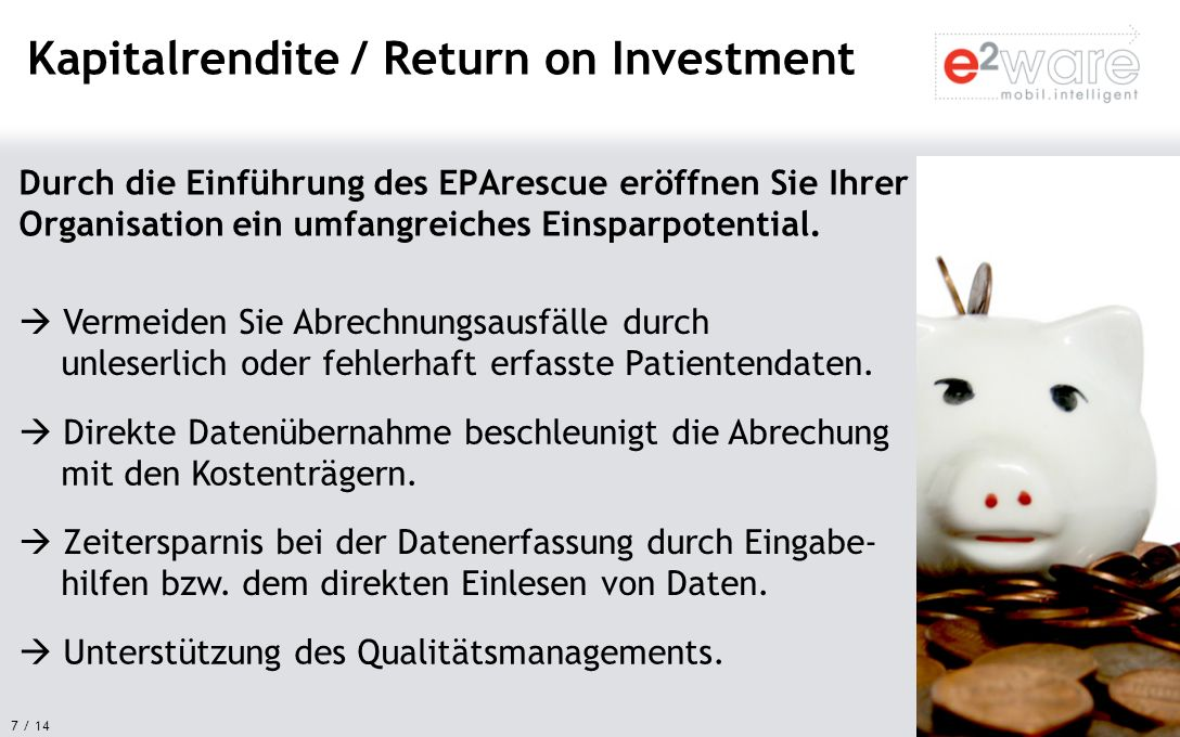 Kapitalrendite / Return on Investment