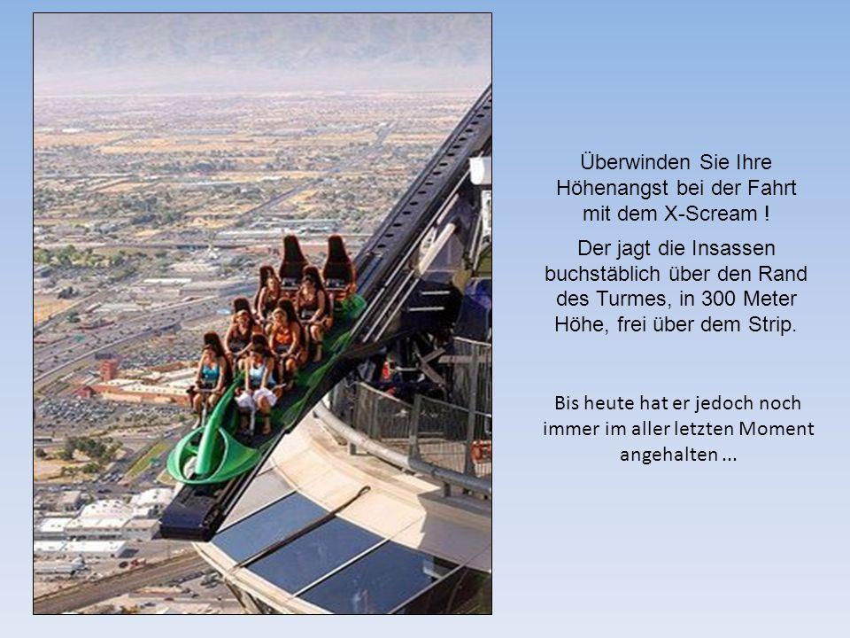 Überwinden Sie Ihre Höhenangst bei der Fahrt mit dem X-Scream !