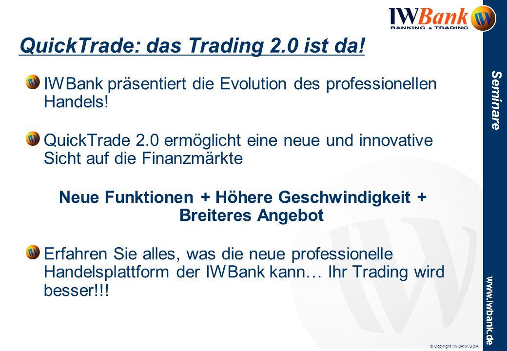4Trader Live Vorstellung der Webbasierenden Handelsplattform der IWBank: 4Trader.
