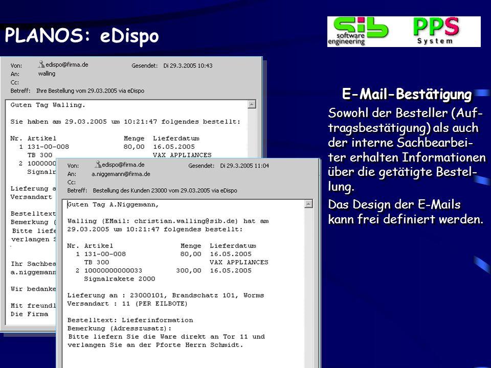 eDispo-Mobil e-Dispo steht überall an jedem Ort über eine Inter-netanbindung zur Verfü-gung.