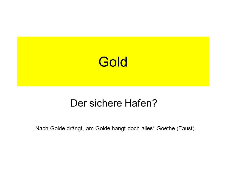 """""""Nach Golde drängt, am Golde hängt doch alles Goethe (Faust)"""