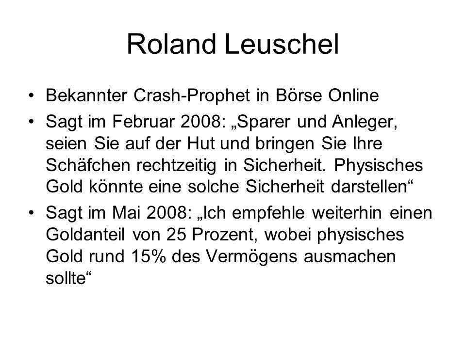Roland Leuschel Bekannter Crash-Prophet in Börse Online