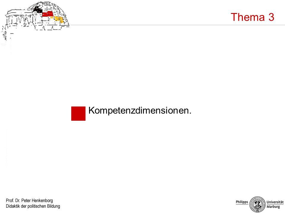 Thema 3 Kompetenzdimensionen.