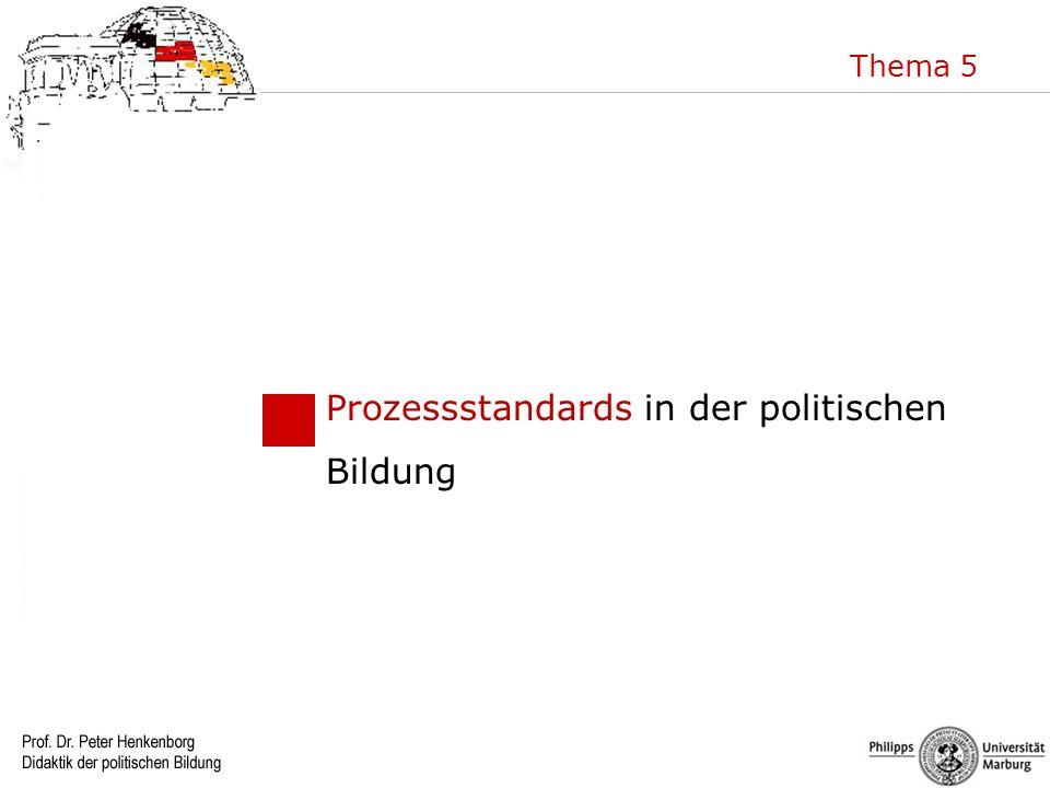 Prozessstandards in der politischen Bildung