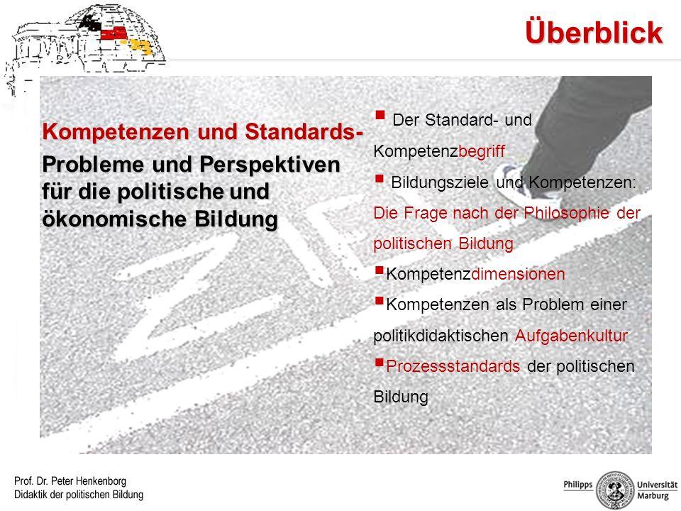 Überblick Kompetenzen und Standards-