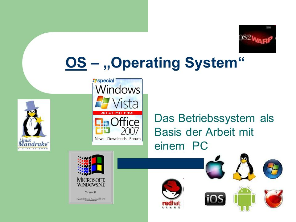 "OS – ""Operating System"