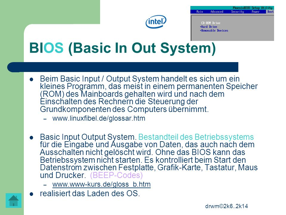 BIOS (Basic In Out System)