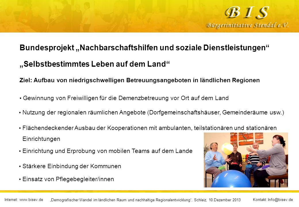 """Bundesprojekt """"Nachbarschaftshilfen und soziale Dienstleistungen"""