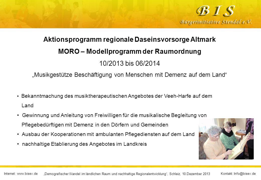 Aktionsprogramm regionale Daseinsvorsorge Altmark