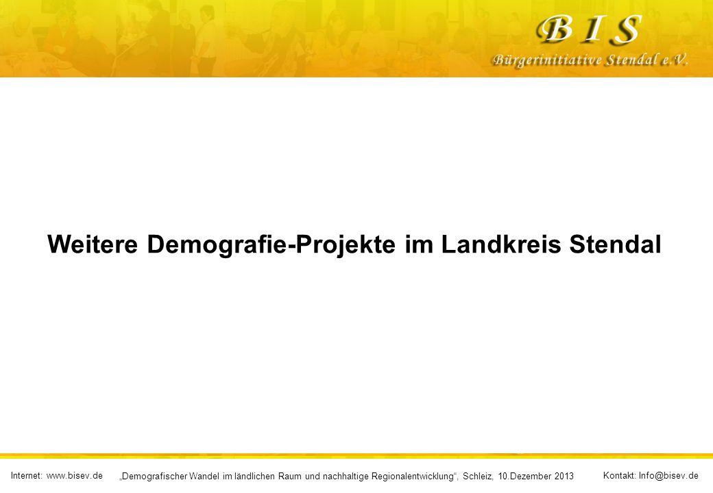 Weitere Demografie-Projekte im Landkreis Stendal