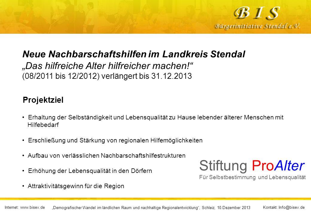 Stiftung ProAlter Neue Nachbarschaftshilfen im Landkreis Stendal