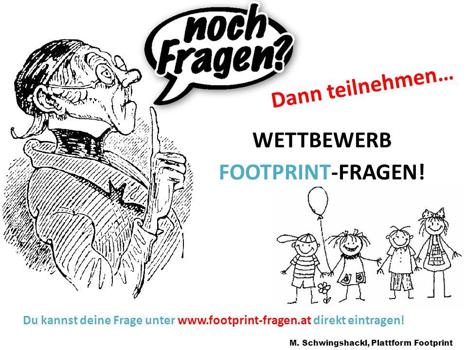 WETTBEWERB FOOTPRINT-FRAGEN!