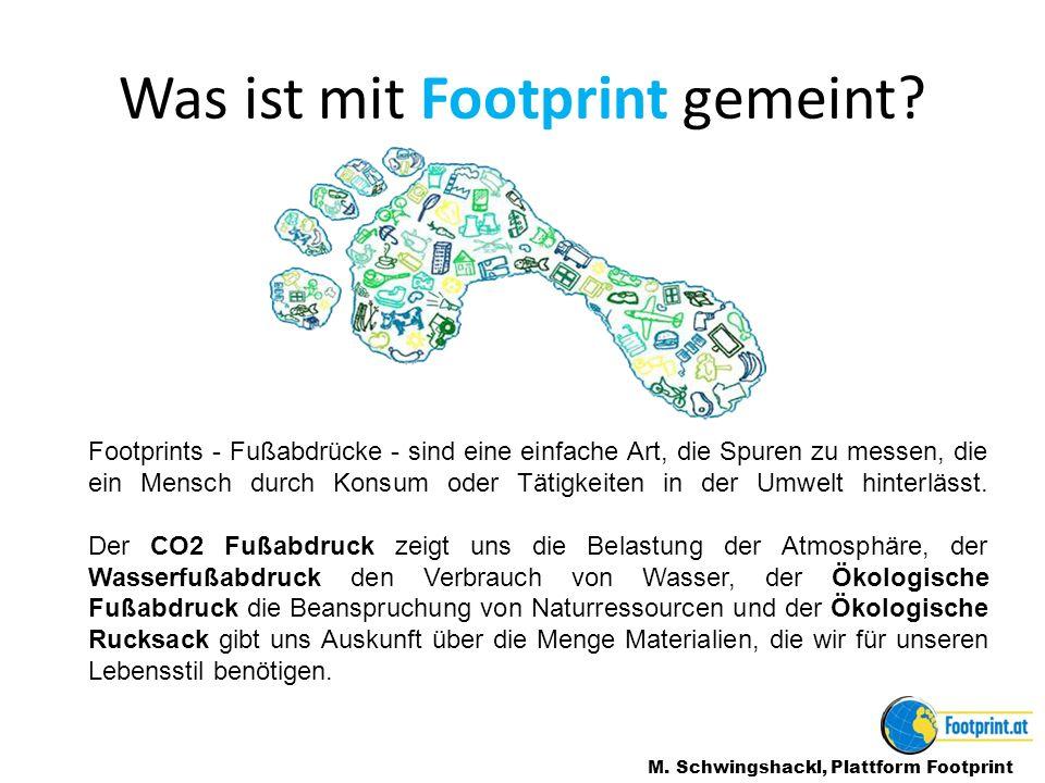 Was ist mit Footprint gemeint