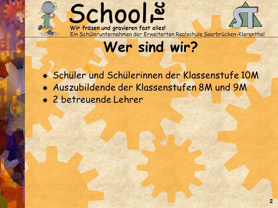 Was wollen wir Gründung eines Schülerunternehmens im Schuljahr 2002/2003, das auf Dauer angelegt ist.