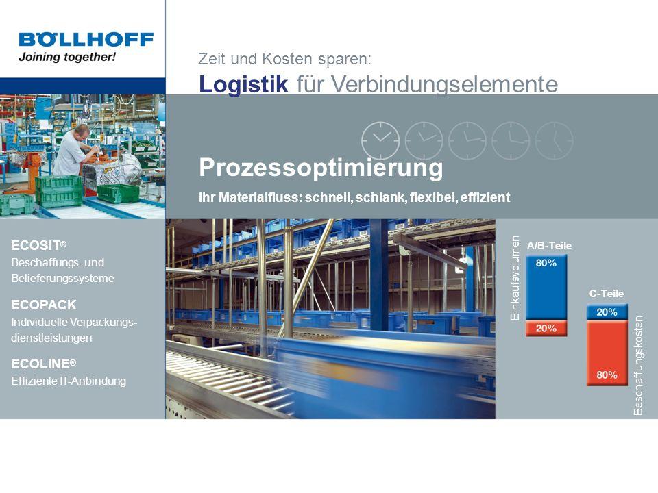 Prozessoptimierung Logistik für Verbindungselemente