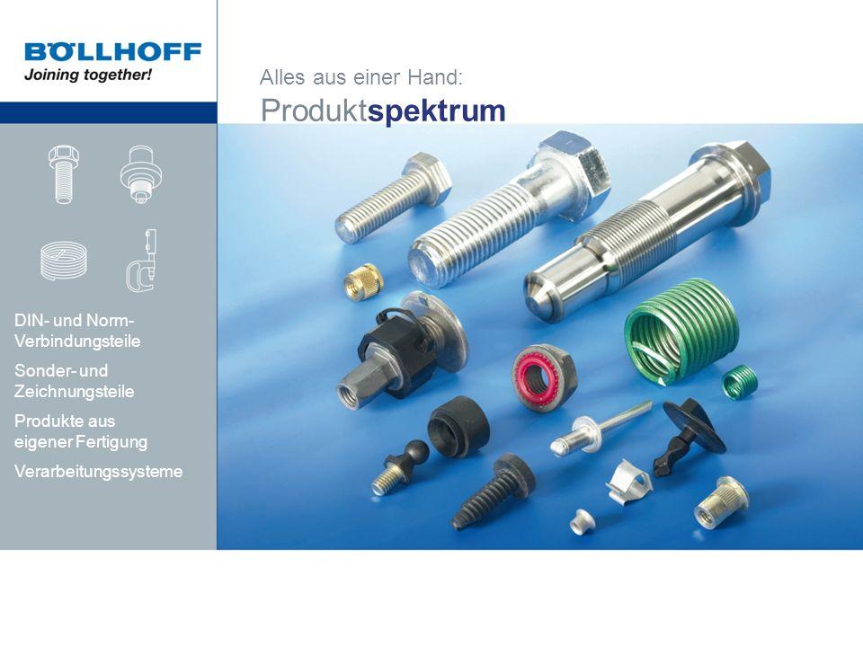 Produktspektrum Alles aus einer Hand: DIN- und Norm-Verbindungsteile