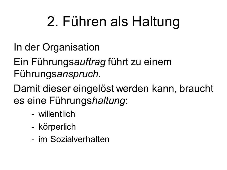 2. Führen als Haltung In der Organisation