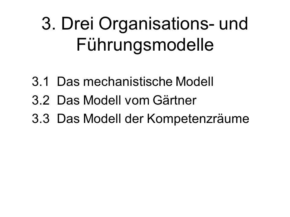 3. Drei Organisations- und Führungsmodelle