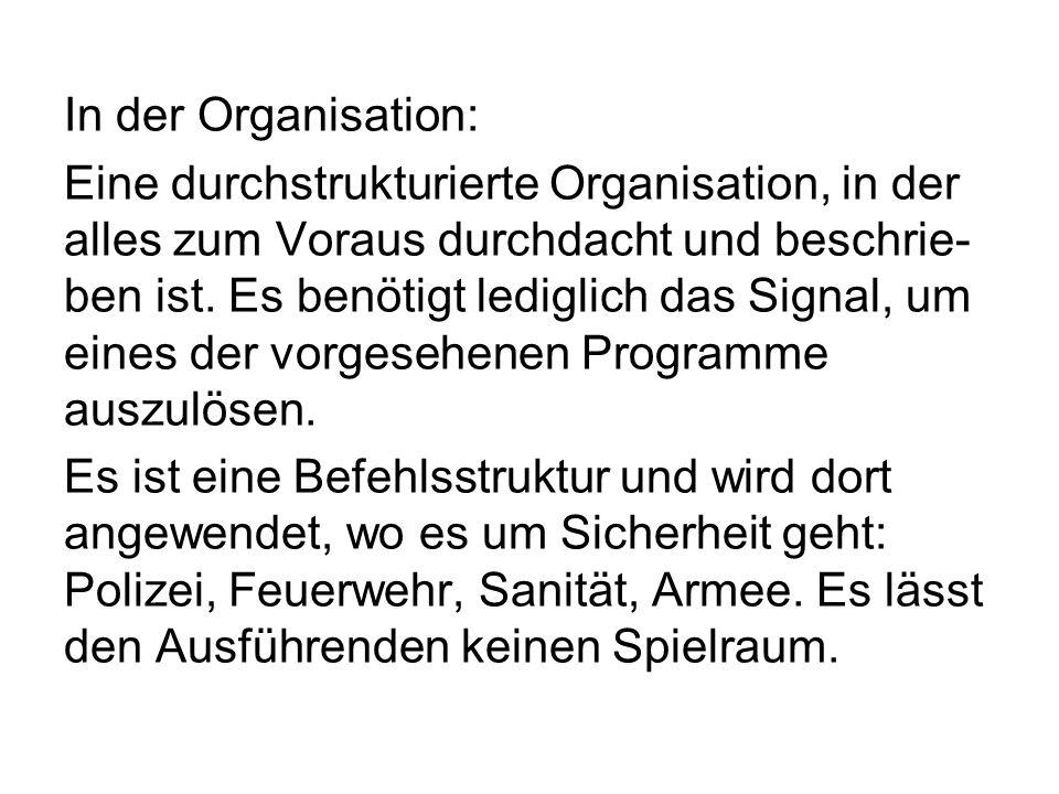 In der Organisation: