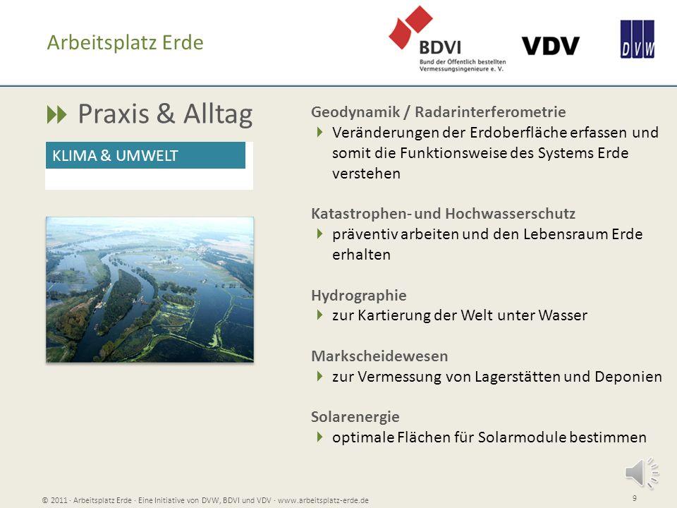  Praxis & Alltag Arbeitsplatz Erde Geodynamik / Radarinterferometrie