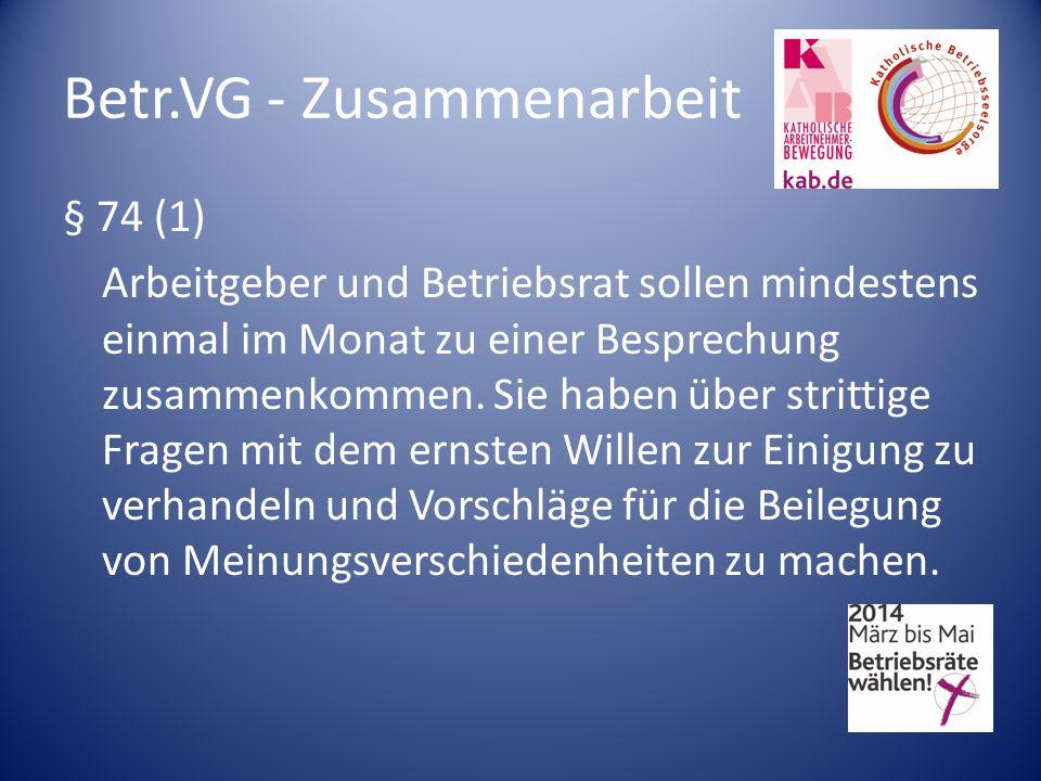 Betr.VG - Zusammenarbeit