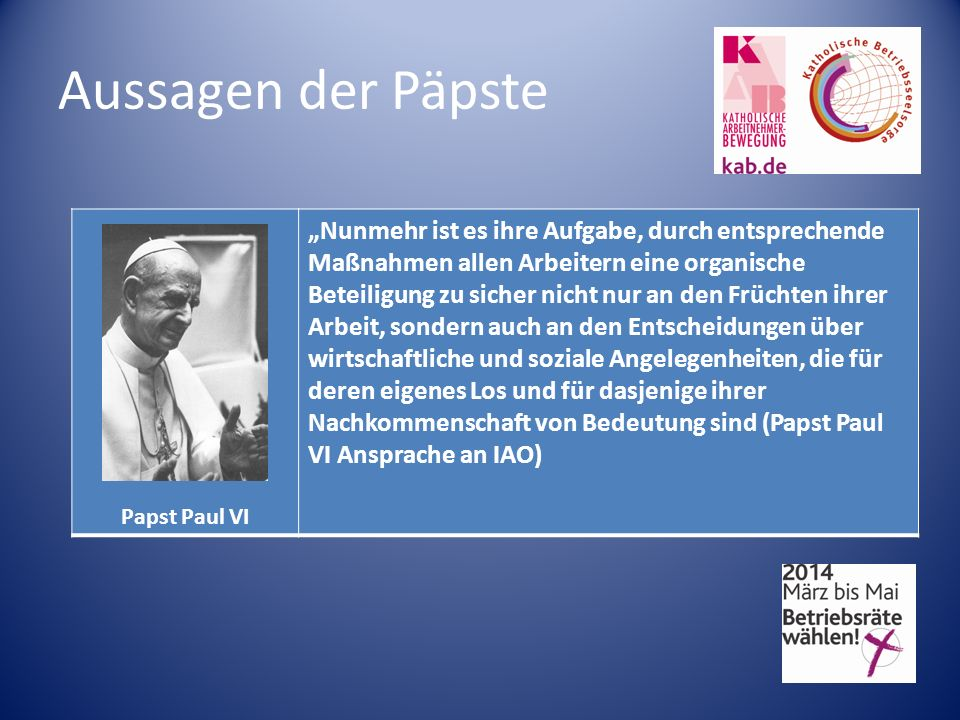 Aussagen der Päpste Papst Paul VI.
