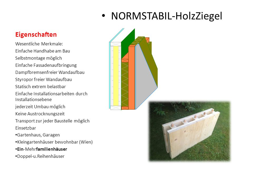 NORMSTABIL-HolzZiegel