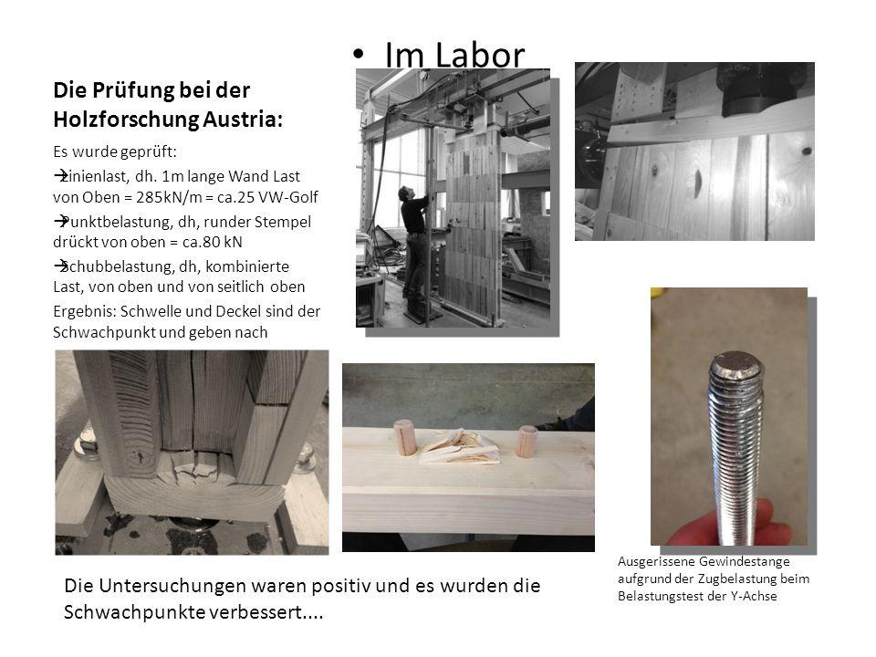 Die Prüfung bei der Holzforschung Austria: