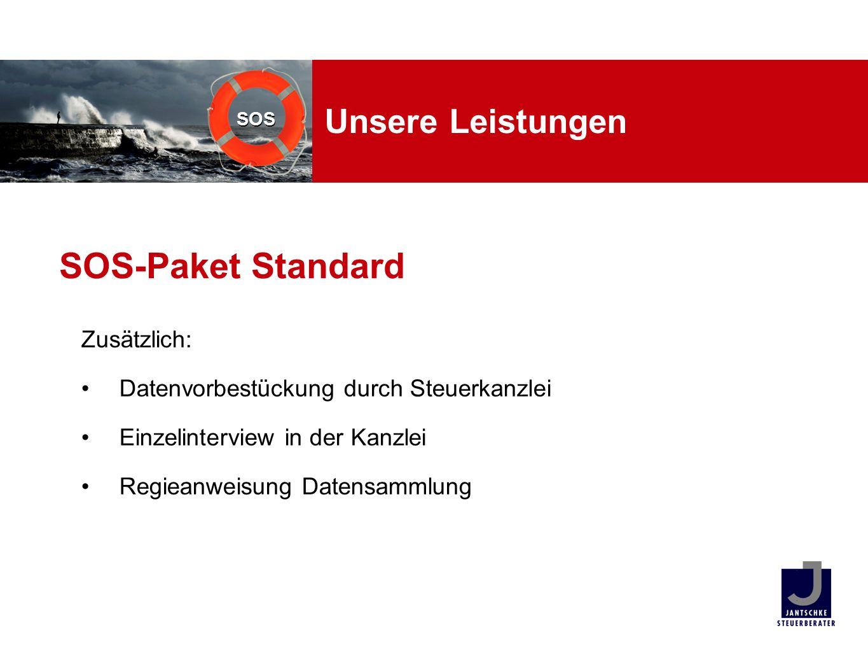 SOS-Paket Standard Unsere Leistungen Zusätzlich: