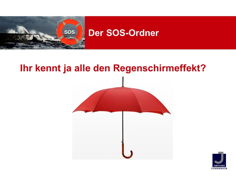 Ihr kennt ja alle den Regenschirmeffekt