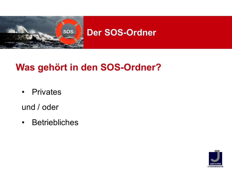Was gehört in den SOS-Ordner