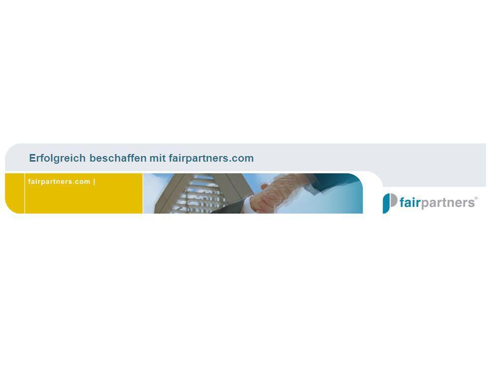 Erfolgreich beschaffen mit fairpartners.com