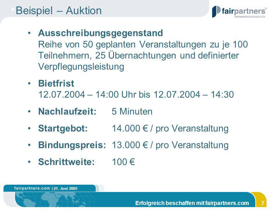 Beispiel – Auktion