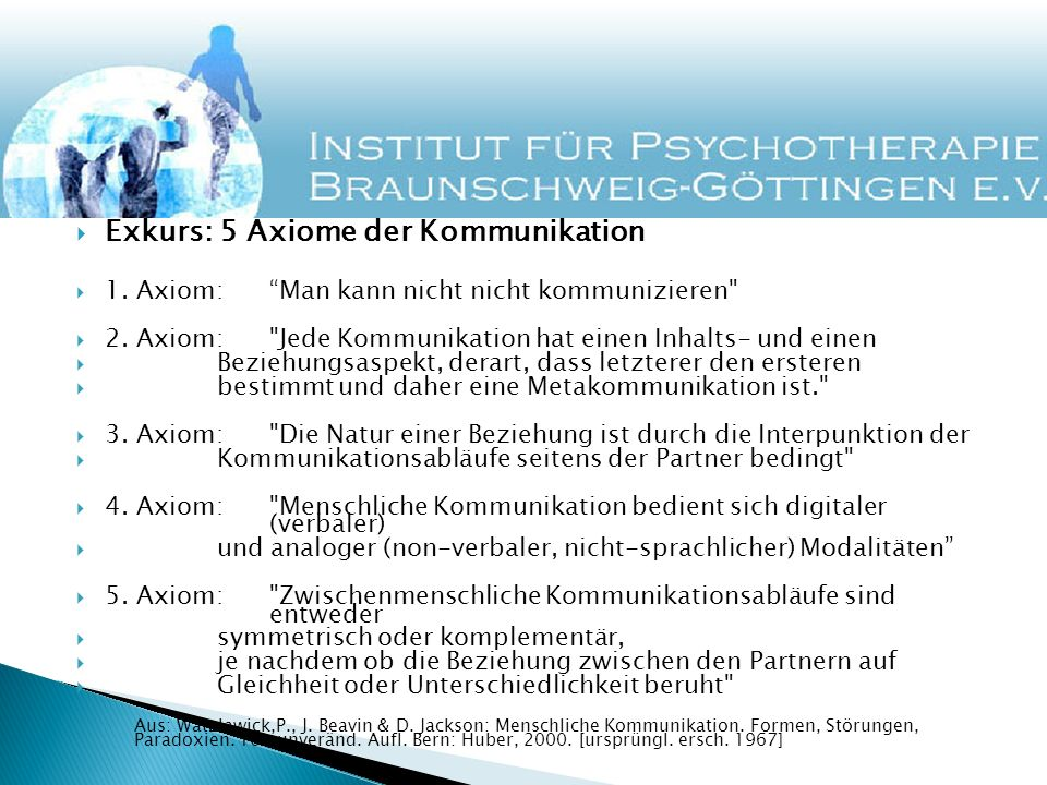 Exkurs: 5 Axiome der Kommunikation